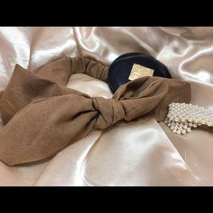 Tan Brown Vintage Elastic Hairband